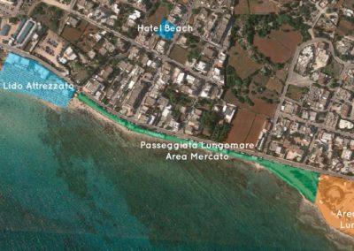 Hotel Beach Vista aerea location Pescoluse